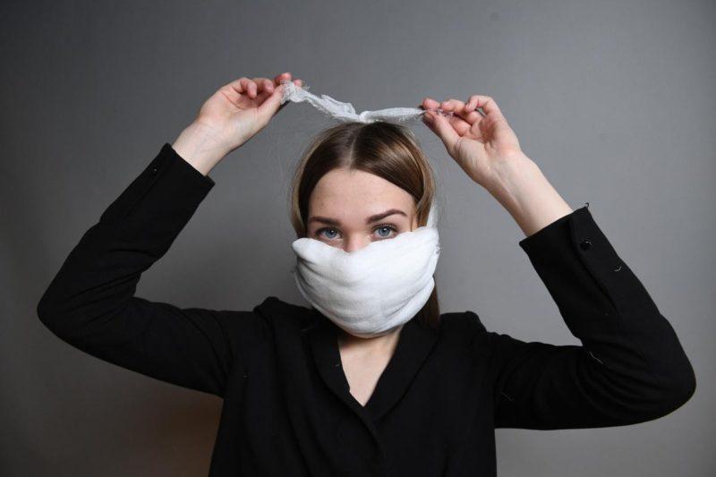 Самодельная маска из бинта