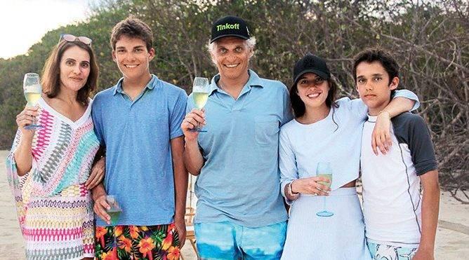 Олег Тиньков и его семья